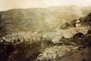 Panorama di Laghitello (davanti) e di Lago del 1930